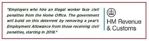 Employing an illegal worker penalties